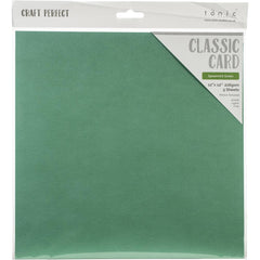 Craft Perfect Weave Texture 80lb Cardstock 12 inches X12 inches  5 pack  - Spearmint Green