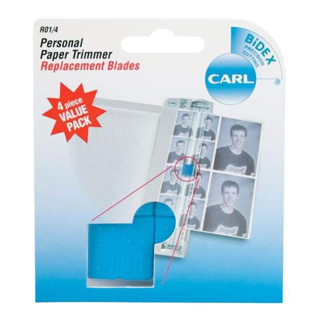 Carl Brands - Carl Personal Paper Trimmer Replacement Blades 4 pack Straight