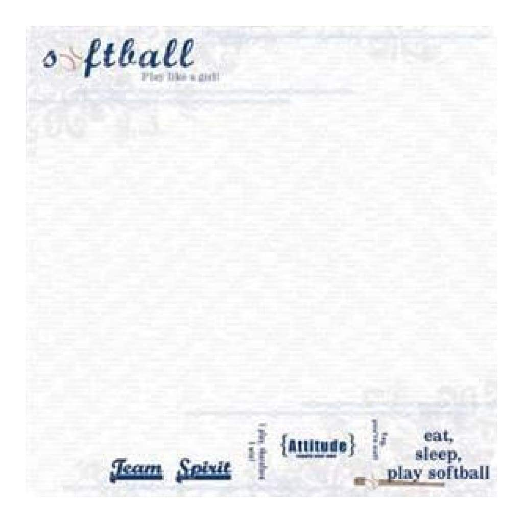 Carolees Creations - Softball  12X12 Paper (Pack Of 10)