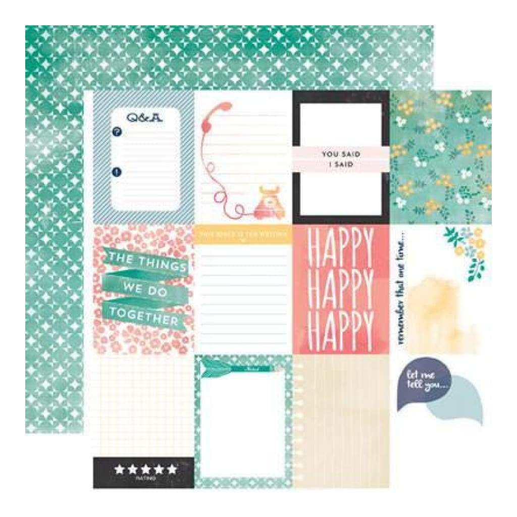 Carta Bella - Hello Again - Journaling Cards 12X12 D/Sided Paper  (Pack Of 10)
