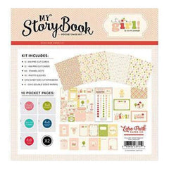 Carta Bella My Story Book Pocket Page Kit 12 Inch X12 Inch  It's A Girl