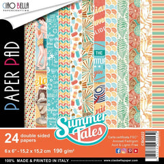 Ciao Bella - Summer Tales Double-Sided Paper Pack 90lb 6 inch X6 inch 24 pack