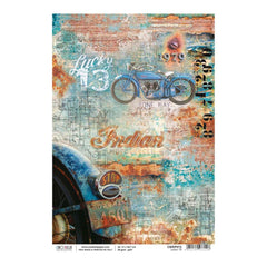 Ciao Bella - Decoupage Rice Single Paper A4 - Lucky 13, Collateral Rust