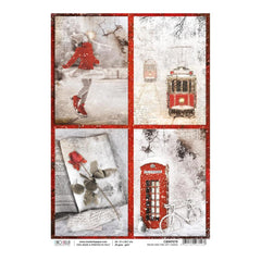 Ciao Bella - Decoupage Rice Paper A4 - Snow & The City Cards