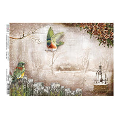 Ciao Bella - Decoupage Rice Paper A4 - No Winter Lasts Forever, Sound Of Winter