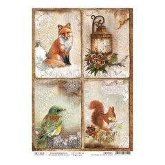 Ciao Bella - Decoupage Rice Paper A4 - The Sound Of Winter Cards