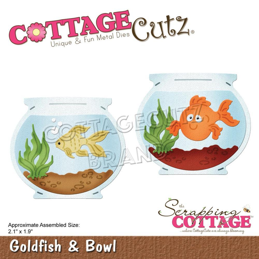 CottageCutz Dies Goldfish & Bowl