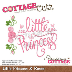 CottageCutz Dies - Little Princess & Roses .9inch To 3.2inch