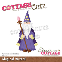 CottageCutz Dies - Magical Wizard 1.7inch X3.4inch