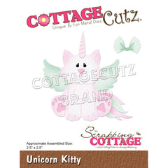 CottageCutz Dies - Unicorn Kitty 2.5inch X2.5inch