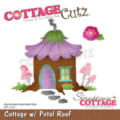 CottageCutz - Dies Cottage  with Petal Roof 2.8 inch X2.8 inch