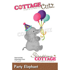 CottageCutz Dies - Party Elephant, 1.7 inchX2.5 inch
