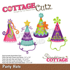 CottageCutz Dies - Party Hats, 1.1 inch To 2.5 inch