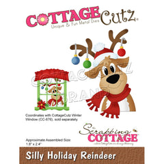 CottageCutz Dies - Silly Holiday Reindeer, 1.8 inch X2.4 inch