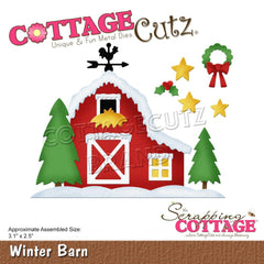 CottageCutz Dies - Winter Barn, 3.1 inch X2.5 inch