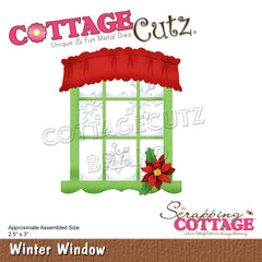 CottageCutz Dies - Winter Window, 2.5 inch X3 inch