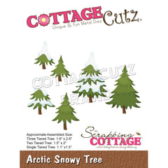 CottageCutz Dies - Arctic Snowy Tree, 1.1in To 2.6in