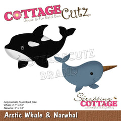 CottageCutz Dies - Arctic Whale & Narwhal, 1.8in To 3in
