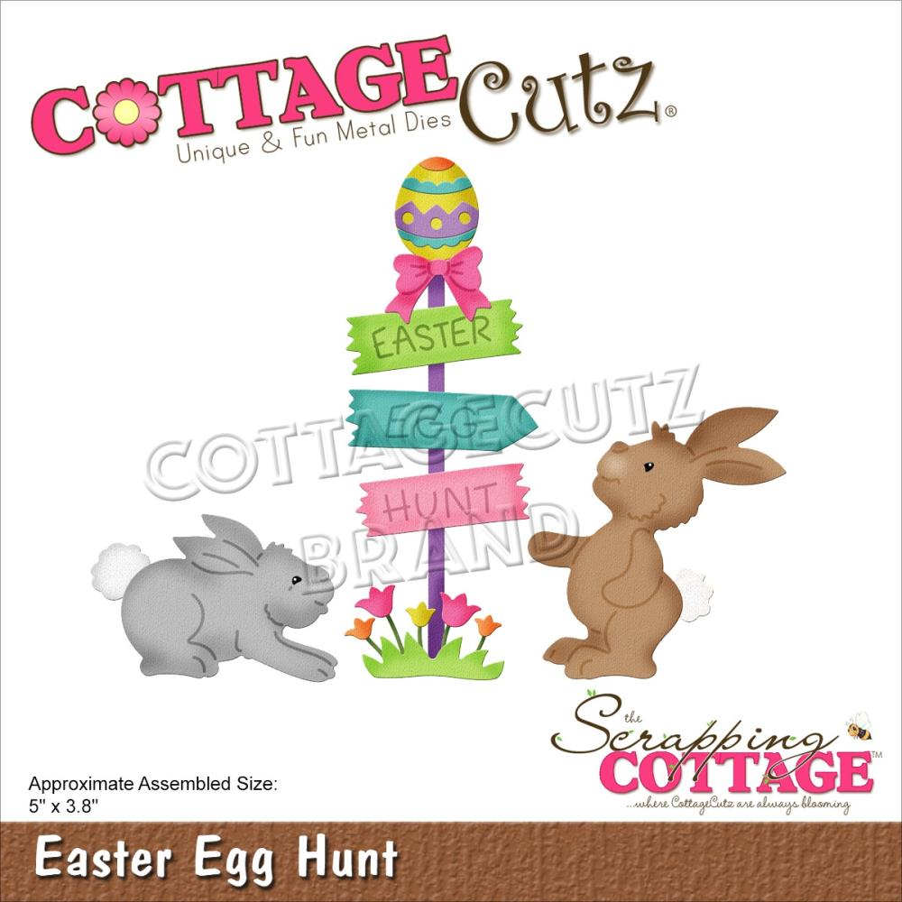 CottageCutz Dies - Easter Egg Hunt 5in x 3.8in