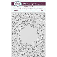 "Creative Expressions 3D Embossing Folder 5.75""X7.5"" - Winter Wreath"