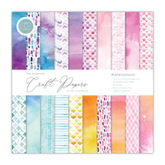 Craft Consortium Double-Sided Paper Pad 12X12 30/Pkg - Watercolors