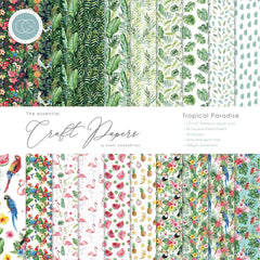 Craft Consortium - Double-Sided Paper Pad 12 inch X12 inch  30 pack  Tropical Paradise, 20 Designs