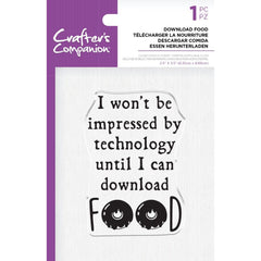 Crafter's Companion Clear Acrylic Quirky Stamp 2.5in x 3.5in - Download Food