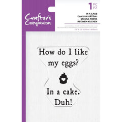 Crafter's Companion Clear Acrylic Quirky Stamp 2.5in x 3.5in - In A Cake