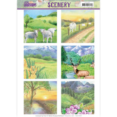 Find It Trading Jeanines Art Punchout Sheet Spring Landscapes #2