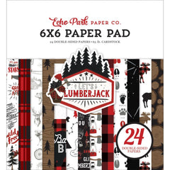 Echo Park Double-Sided Paper Pad 6in x 6in  24 pack  - Let's Lumberjack