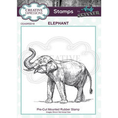 Creative Expressions - Pre Cut Rubber Stamp by Andy Skinner - Elephant