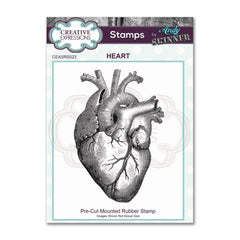 Creative Expressions - Pre Cut Rubber Stamp by Andy Skinner - Heart