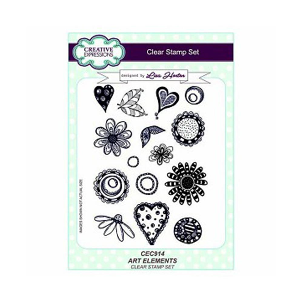 Creative Expressions - Art Elements A5 Clear Stamp Set