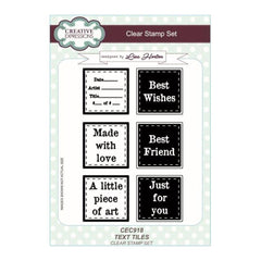 Creative Expressions - Text Tiles A5 Clear Stamp Set
