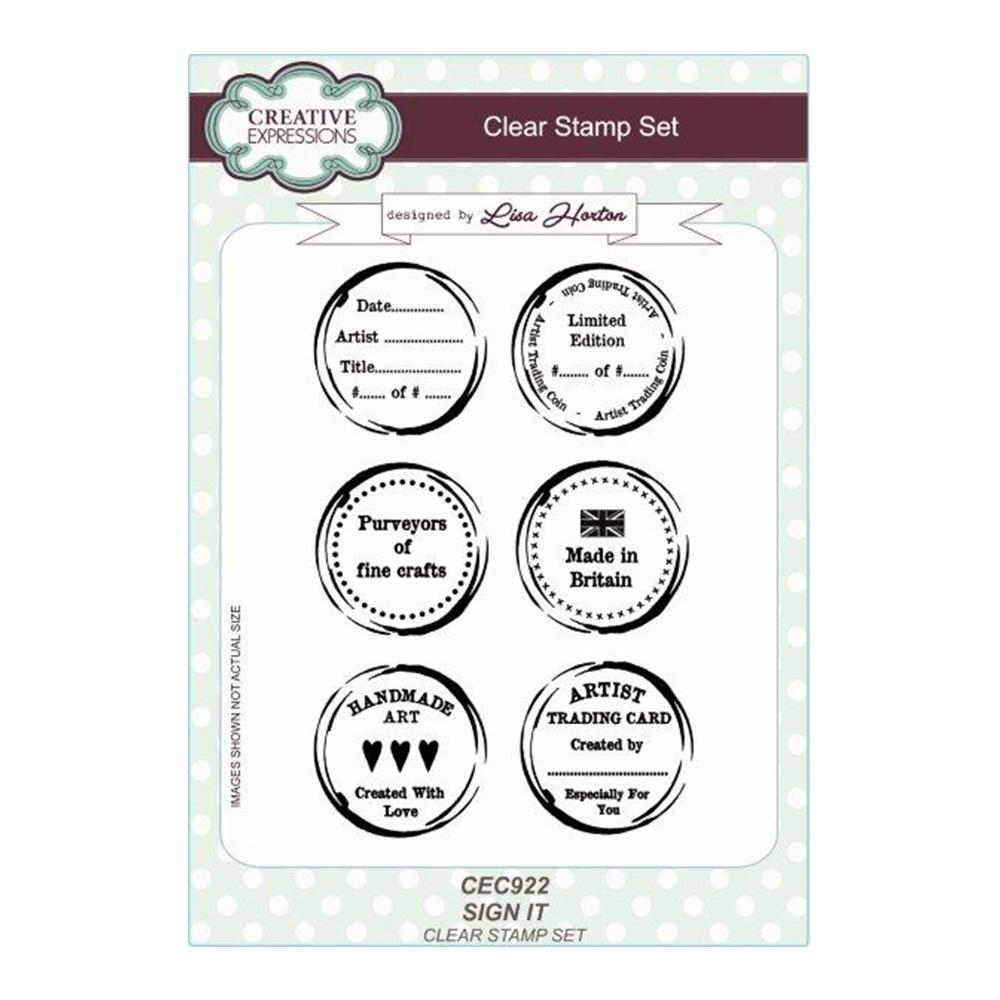 Creative Expressions - Sign It A5 Clear Stamp Set