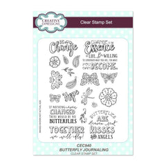 Creative Expressions - Butterfly Journaling A5 Clear Stamp Set