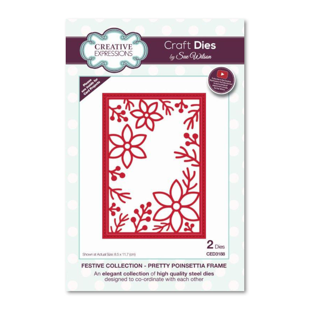 Creative Expressions - Festive Collection Pretty Poinsettia Frame