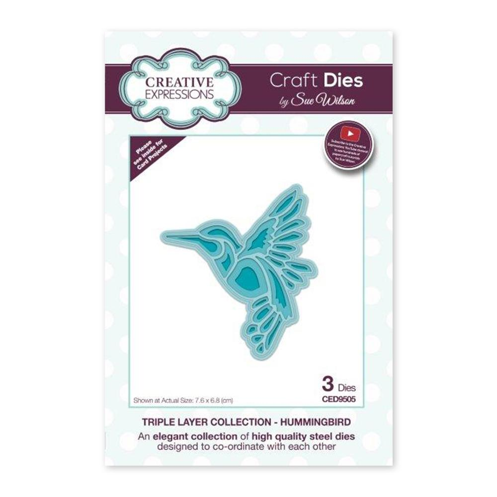 Creative Expressions - Craft Dies - Triple Layer Collection Hummingbird