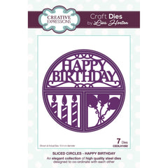 Creative Expressions Sliced Circles Craft Die - Happy Birthday