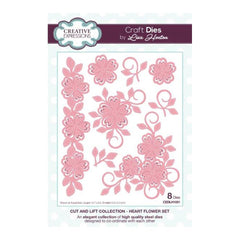 Creative Expressions - Cut and Lift Collection Heart Flower Set