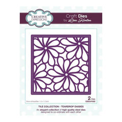 Creative Expressions - Tile Collection Teardrop Daisies