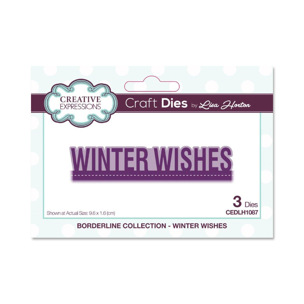 Creative Expressions - Craft Die - Borderline Winter Wishes