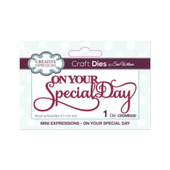 Creative Expressions - Mini Expressions Collection On Your Special Day Craft Die