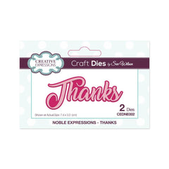 Creative Expressions - Noble Expressions Collection Thanks Craft Die