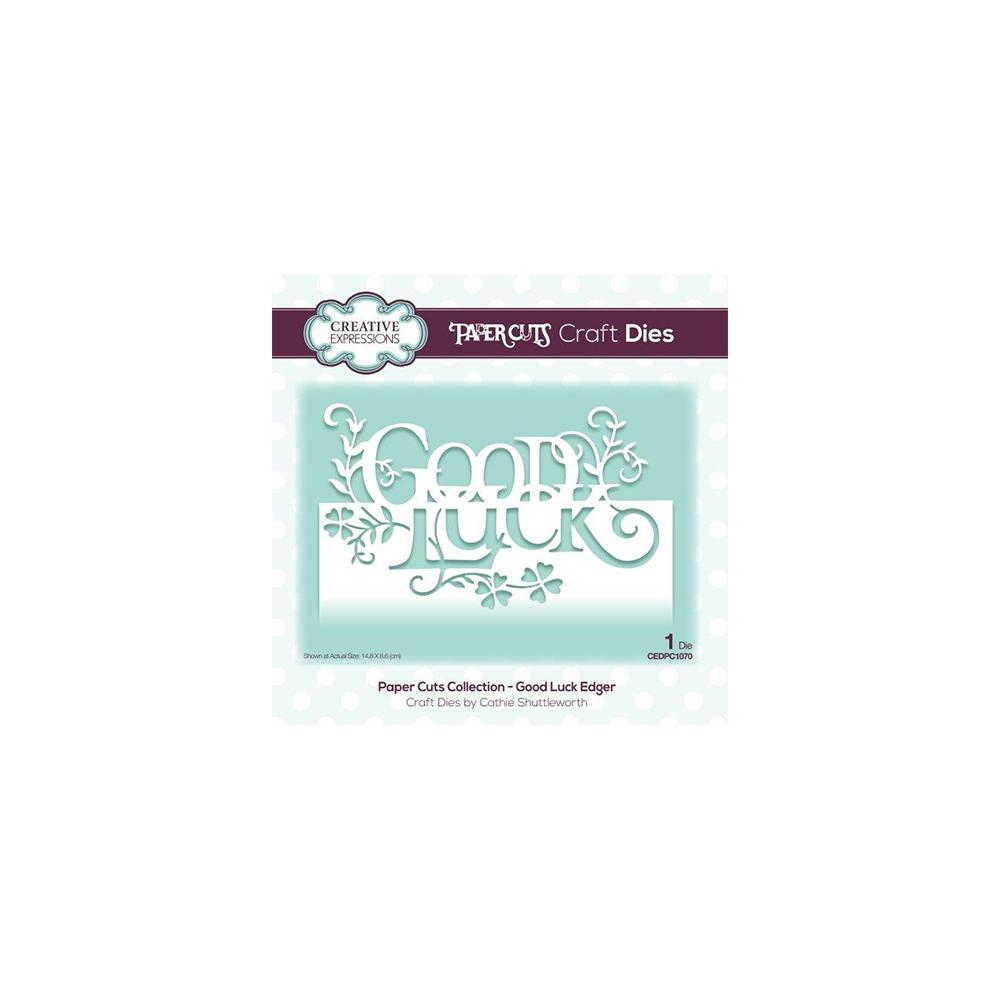 Creative Expressions - Paper Cuts Collection - Good Luck Edger