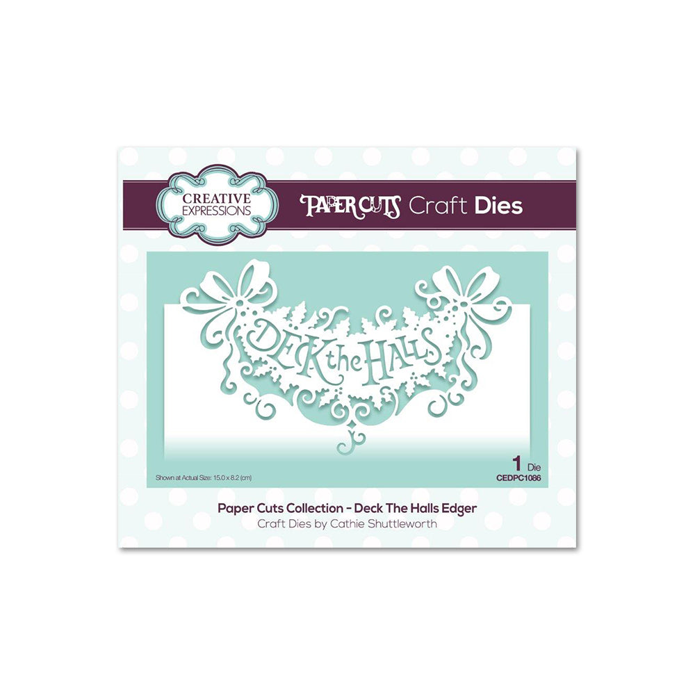 Creative Expressions - Paper Cuts Collection - Deck the Halls Craft Die