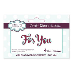 Creative Expressions - Mini Shadowed Sentiments For You