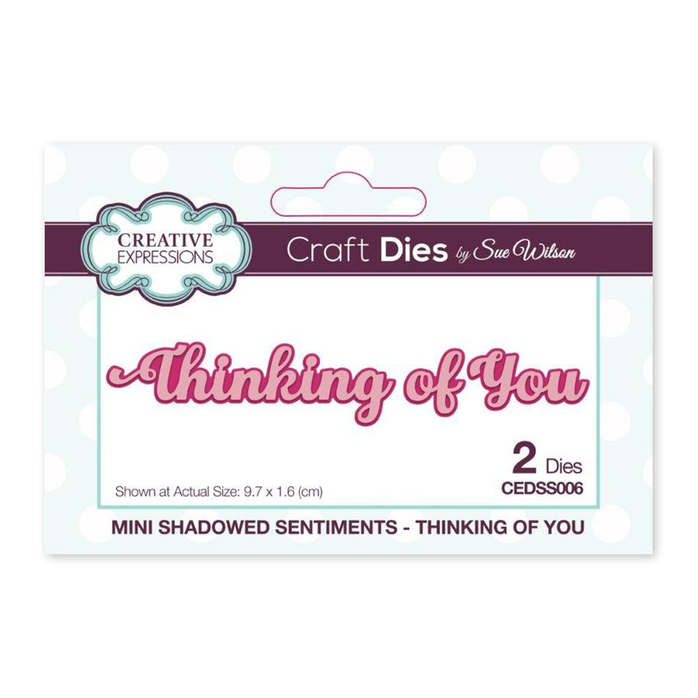Creative Expressions - Mini Shadowed Sentiments Thinking of You