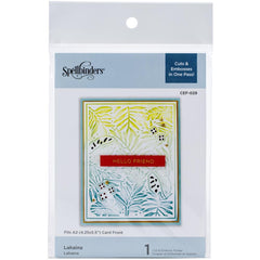 Spellbinders Cutting Embossing Folders - Lahania - 4.25in x 5.5in