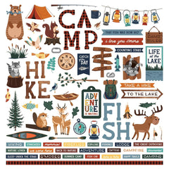 PhotoPlay Camp Happy Bear Stickers 12in x 12in Elements